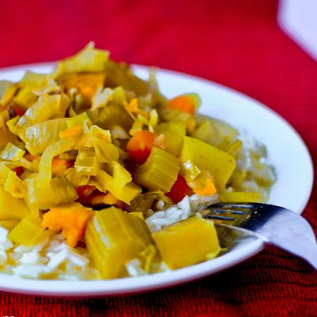Sweet And Spicy Veggie Curry For Crock Pot