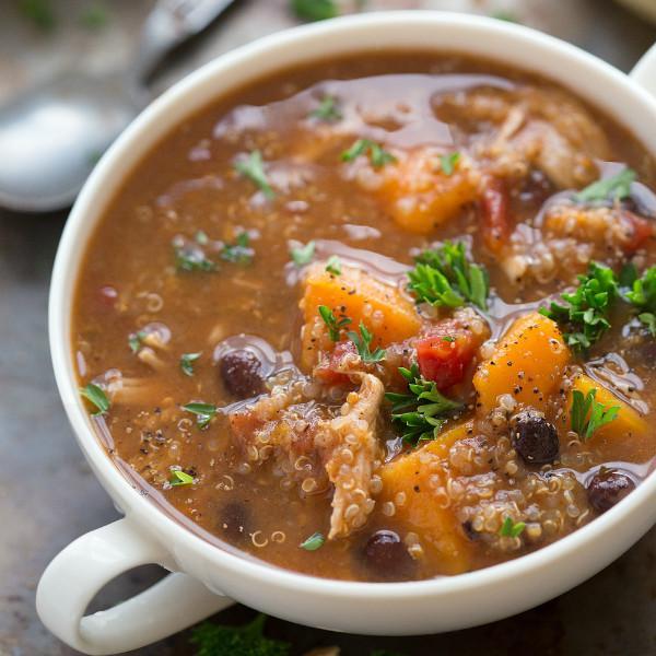 Sweet Potato, Chicken, And Quinoa Soup