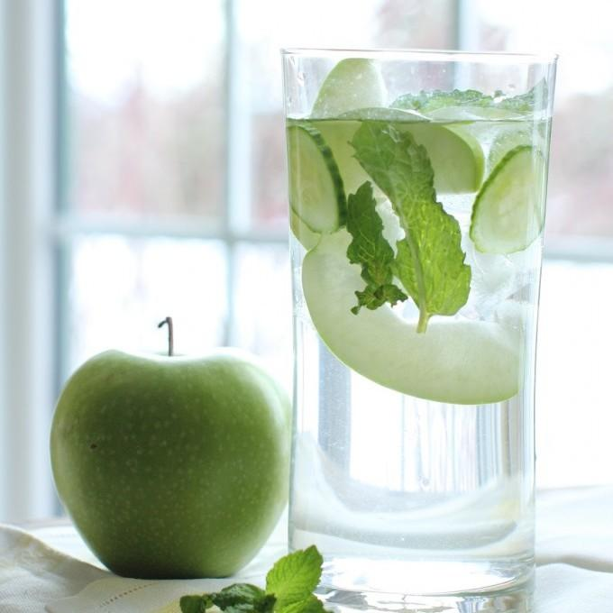 Wonder Water With Green Apple, Cucumber And Mint