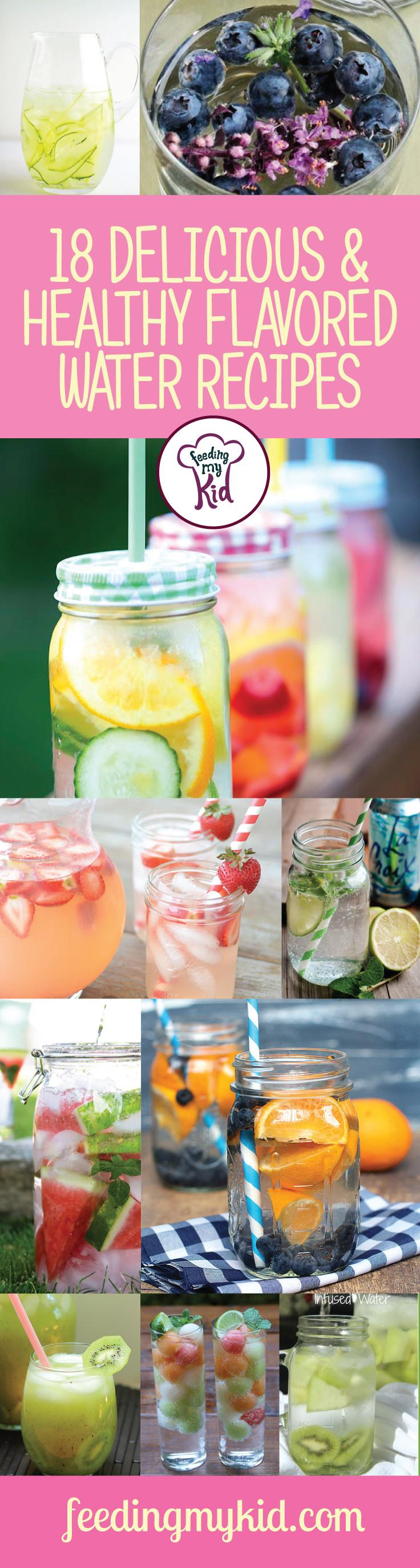 18 Delicious & Healthy Flavored Water Recipes - This is a must pin! Spring is here and summer isn't too far on it's way. Sometimes, it's nice to have something tasty and refreshing with a twist. These flavored water recipes are good for any season, but they do make spring and summer all the better. From honeydew and kiwi infused water to citrus bliss infused water; everyone will love these! This must share! #fmk #flavoredwater #recipes