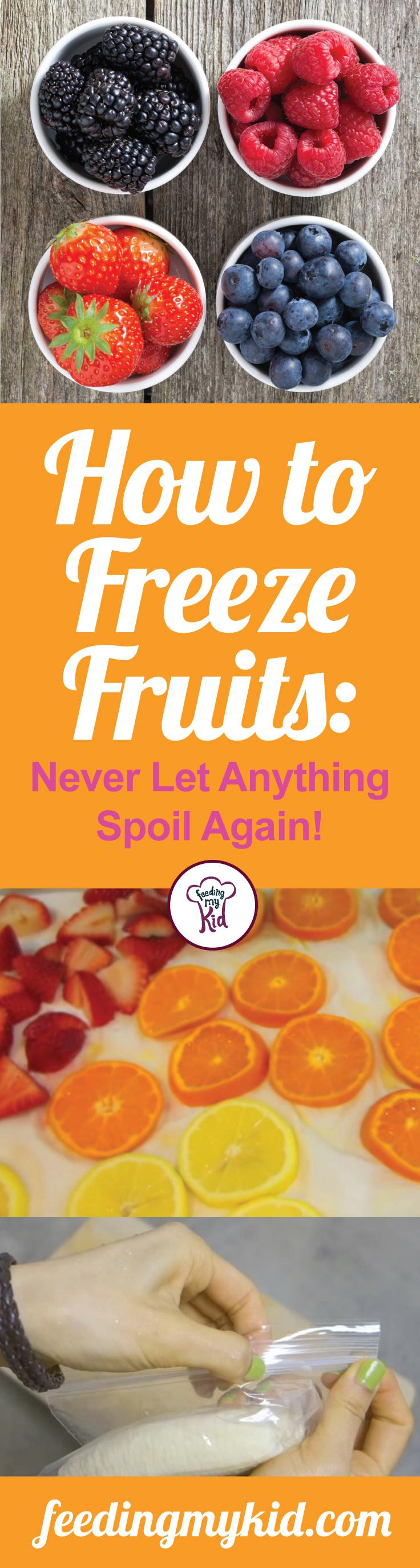 how to freeze fruit