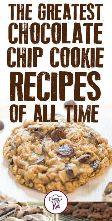 The Greatest Chocolate Chip Cookie Recipes Of All Time. Try these stunning chocolate chip cookies recipes. Feeding My Kid is a great website for healthy recipes, dinner recipes and ways to eat clean. #easyrecipes #recipes #FMK