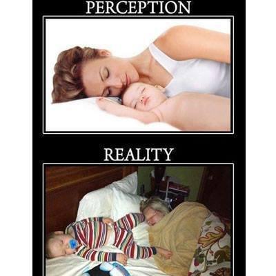 New Mom Perception vs New Mom Reality