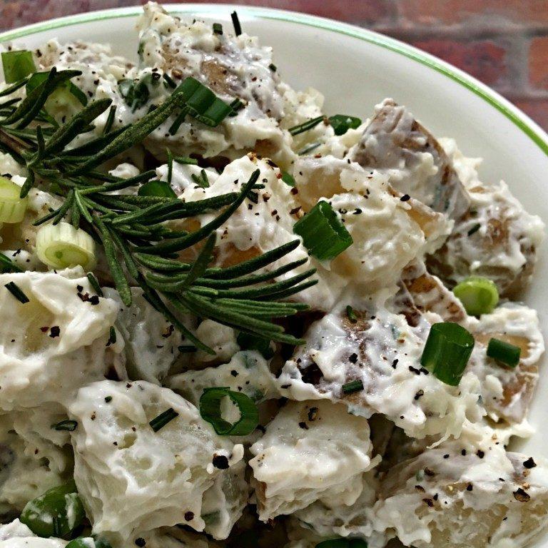 Rosemary Parmesan Greek Yogurt Potato Salad
