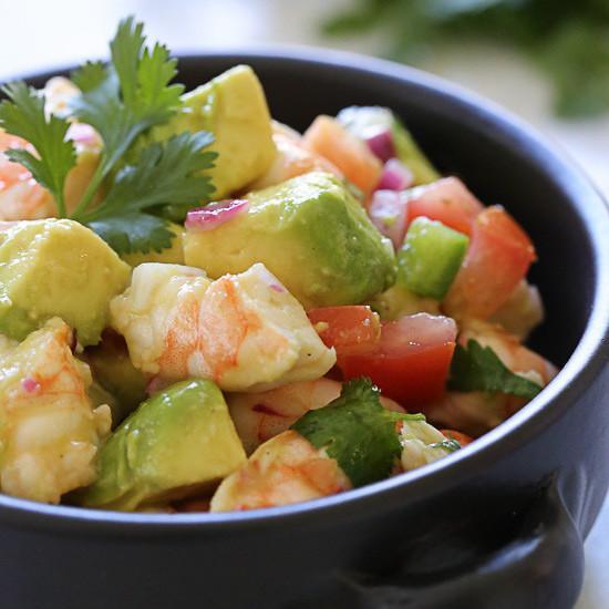 Zesty Lime Shrimp And Avocado Salad Skinnytaste | Lobster ...