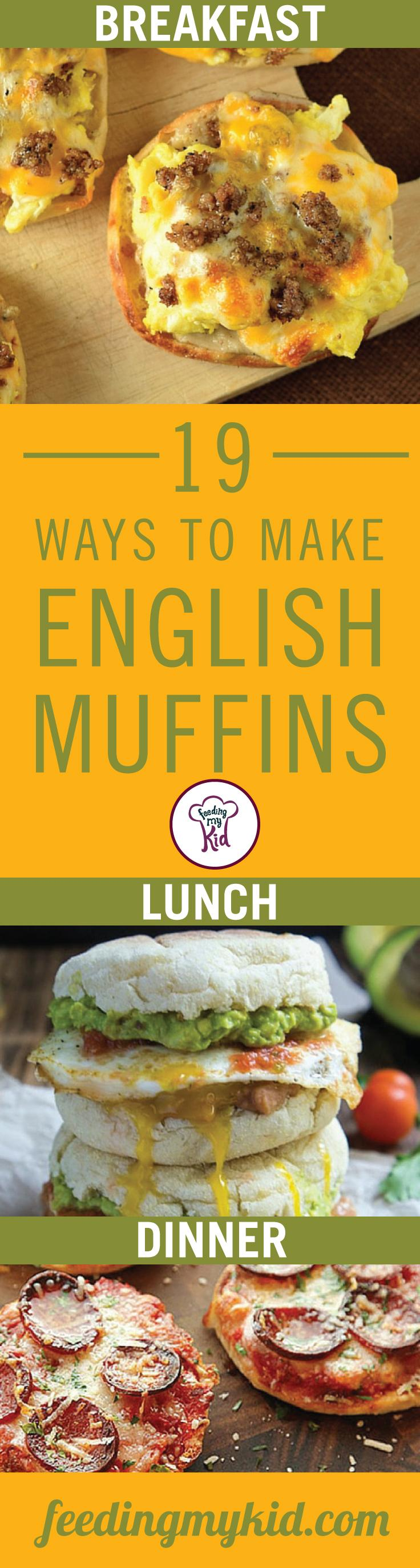 Find the perfect english muffin recipe. From a pizza english muffin to a dill pickle sandwich, these recipes are perfect for anyone and anytime. Feeding My Kid is a great website for parents and nutrition buffs alike, filled with healthy recipes and ways to live a nutritious, healthy life.