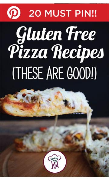 Going gluten free? Here're some great gluten free pizza recipes. Feeding My Kid is a website for parents, filled with all the information you need about how to raise your kids, from healthy tips to nutritious recipes. #pizza #recipes #glutenfree
