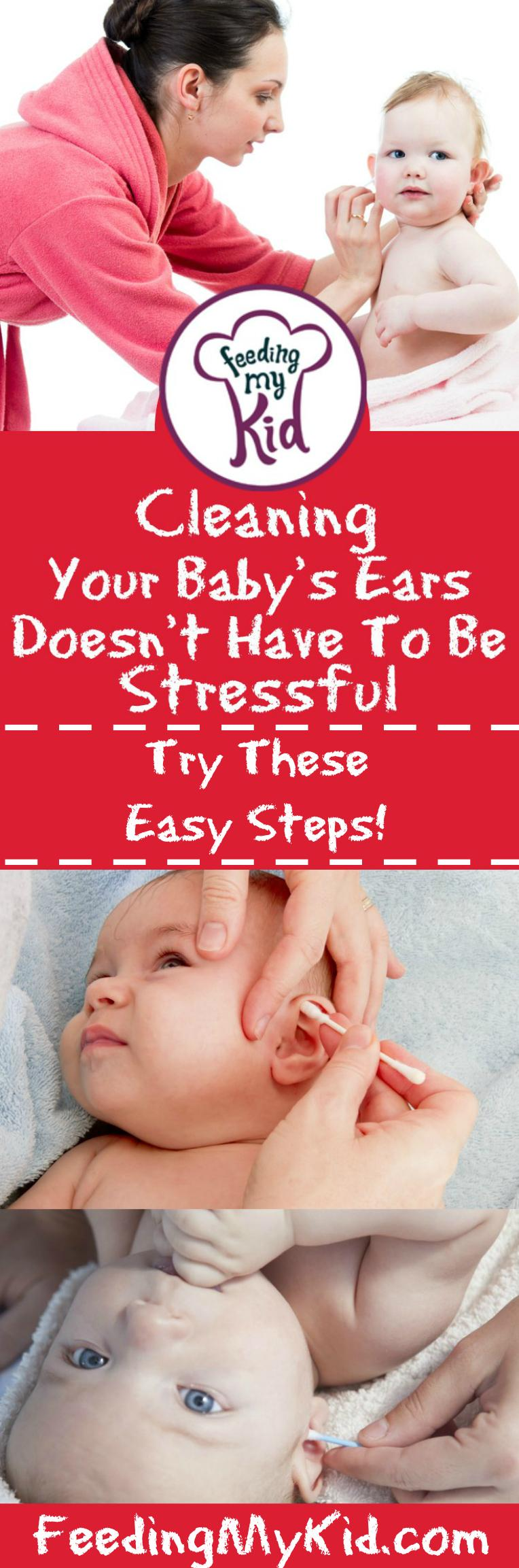 Some great videos with easy tips that will change how you clean your baby's ears forever! Feeding My Kid is a website for parents, filled with all the information you need about how to raise your kids, from healthy tips to nutritious recipes. #videos #tips #hacks #babyears