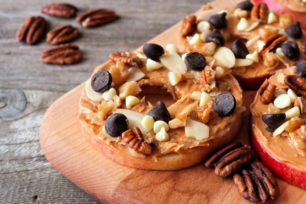 Apple-and-Nut-Butter-with-Almonds