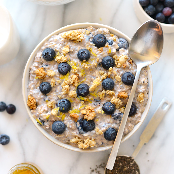 Blueberry Muffin Overnight Oats