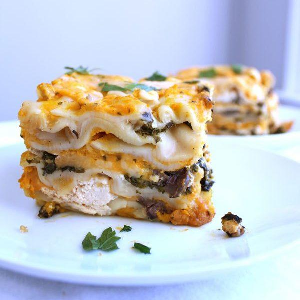 Crock Pot Butternut Squash Kale And Mushroom Lasagna Recipe