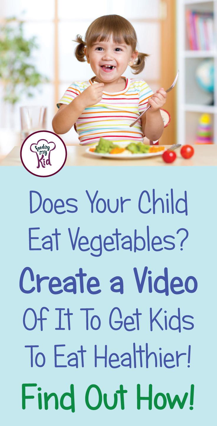 Do you want your kids to develop healthy eating habits? Have them watch other kids eat veggies. Find out how it works here and send us your videos! Stop picky eating in its tracks! Feeding My Kid is a website for parents, filled with all the information you need about how to raise your kids, from healthy tips to nutritious recipes. #parenting #healthyeatinghabits #pickyeating