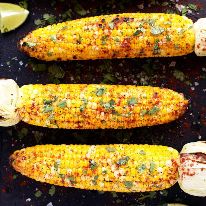 Grilled Cilantro, Lime And Paprika Corn On The Cob Recipe