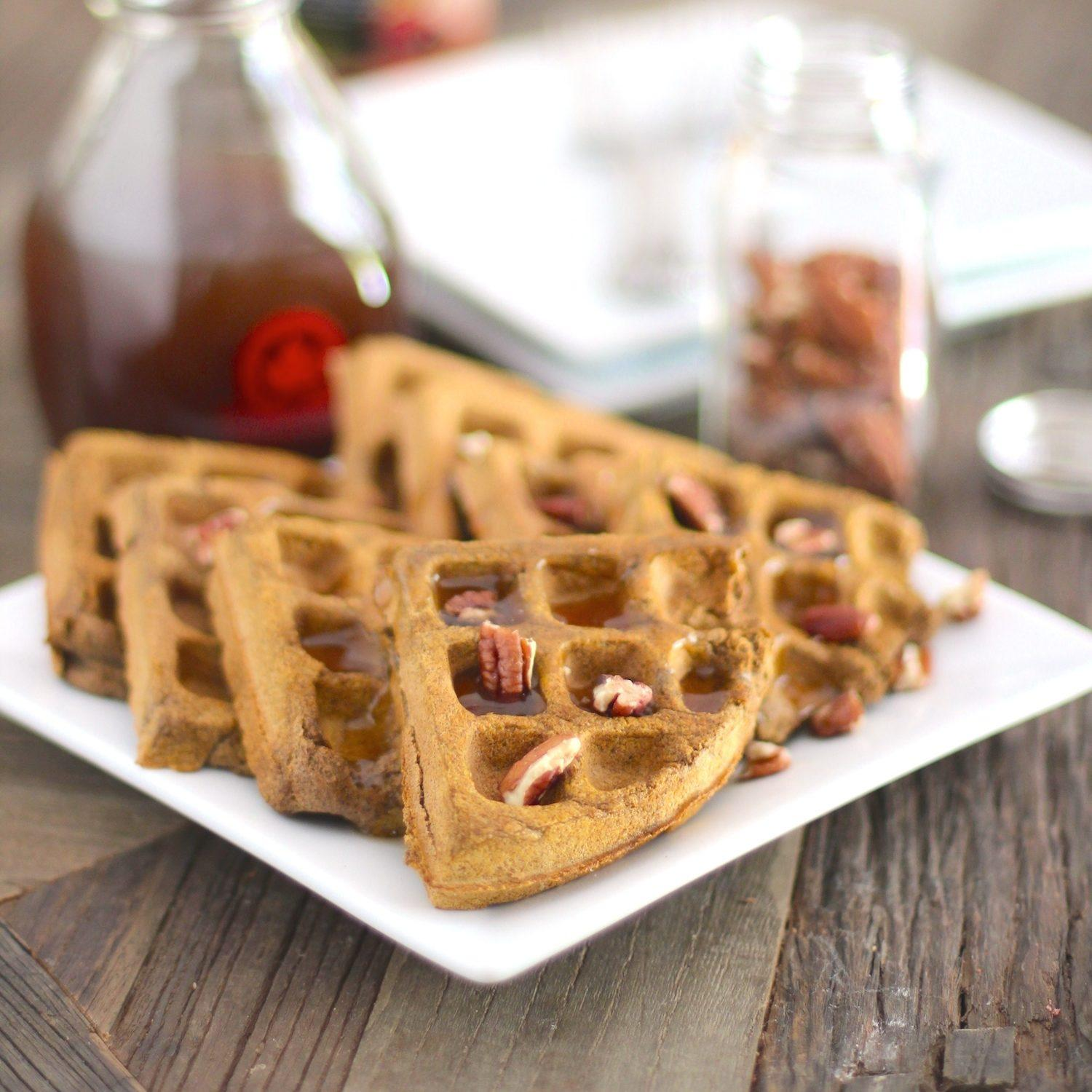 Healthy Pumpkin Buckwheat Waffles