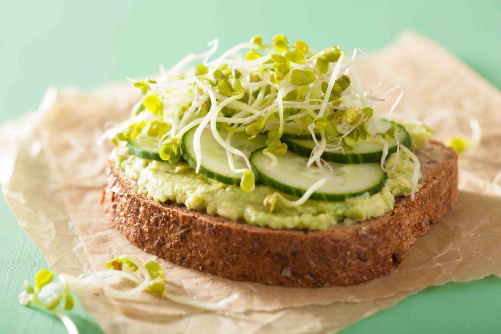 Healthy-Sandwich-Sprouted-Bread,-Avocado,-Microgreens