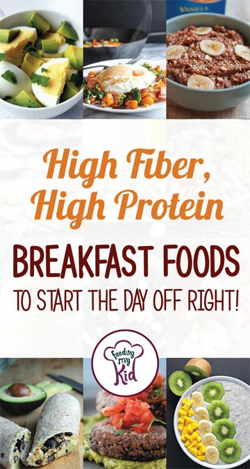 Try these amazing high fiber, high protein breakfast foods that will help you start your day off right. #breakfast #breakfastrecipes #highfiber #highprotein