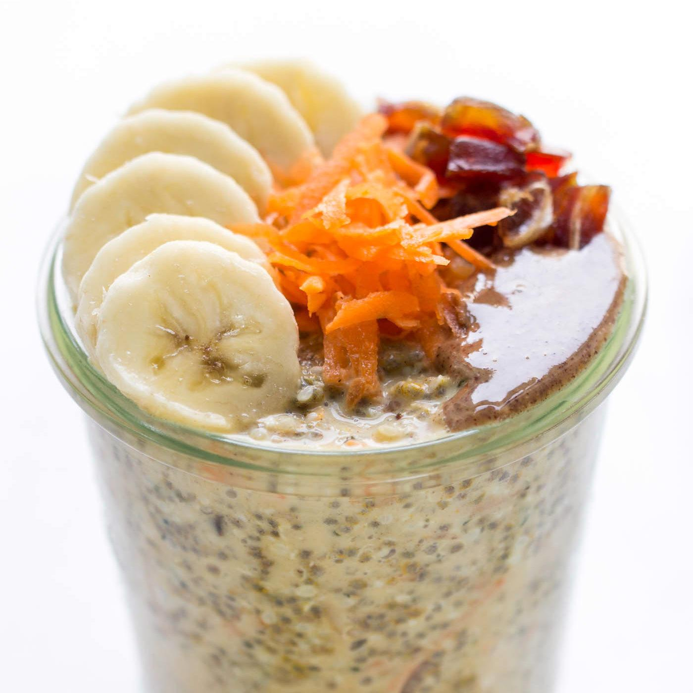High Protein Carrot Cake Chia Pudding
