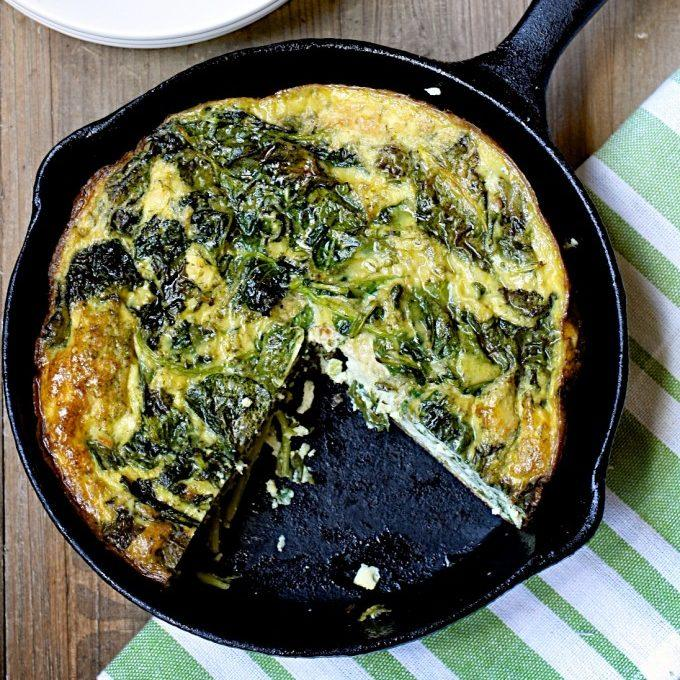 Make Ahead Kale And Feta Frittata