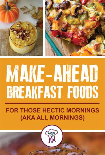 Be sure to follow some of these great make-ahead breakfast recipes to make the morning easier for you and the whole family. #breakfast #breakfastrecipes #makeahead #parenting