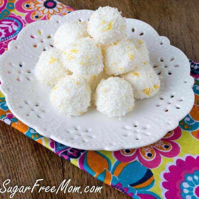 No Bake Sugar Free Lemon Coconut Truffles Recipe