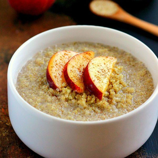 Peach Almond Breakfast Quinoa