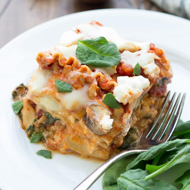 Slow Cooker Spinach Ricotta Lasagna Recipe
