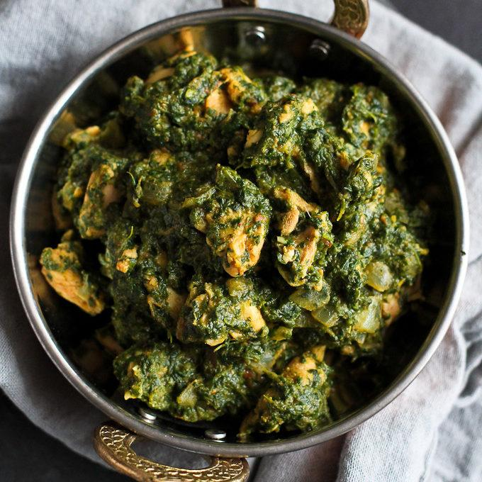 Spinach And Chicken Curry Recipe