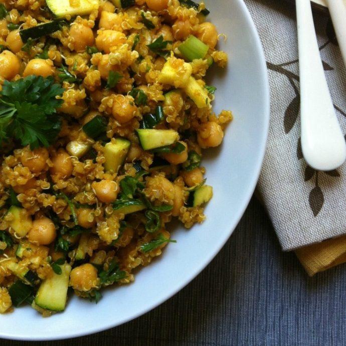 Zucchini Chickpea Quinoa Salad Recipe