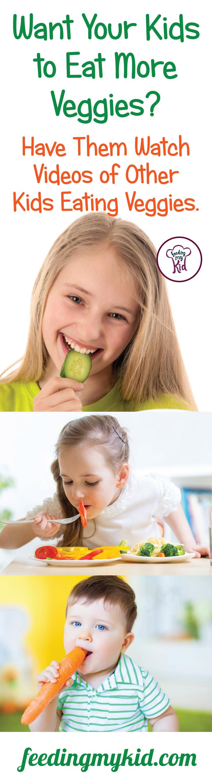 This is a must share! Do you want your kids to develop healthy eating habits? Have them watch other kids eat veggies. Find out how it works here! Stop picky eating in its tracks! Feeding My Kid is a website for parents, filled with all the information you need about how to raise your kids, from healthy tips to nutritious recipes. #parenting #healthyeatinghabits #pickyeating