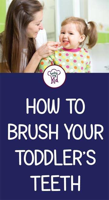 This is a must pin. Learn how to brush teeth properly! In this article you'll learn everything you need to know to brush your toddler's teeth. Feeding My Kid is a filled with all the information you need about how to raise your kids, from healthy tips to nutritious recipes. #teeth #dentalcare #tips #parenting