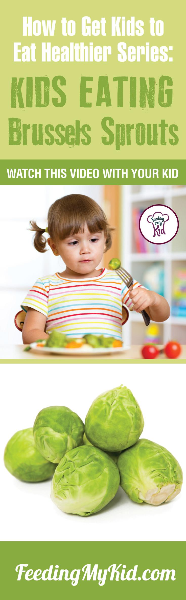 Want your kids to eat Brussels Sprouts? Teach your kids how to eat more vegetables and fruits. Watch these videos with your kids of kids eating veggies and fruits and get your kids to eat veggies and fruits. Find out how it works here. Feeding My Kid is a filled with all the information you need about how to raise your kids, from healthy tips to nutritious recipes. #pickyeating #getkidstoeat #brusselssprouts