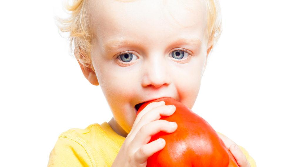 How to Get Kids to Eat Healthier Series: Kids Eating Bell Peppers