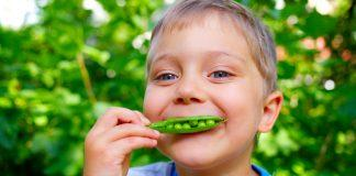 Veggies for kids! Learn how to get kids to eat vegetables and fruits by watching videos of kids eating healthy. Watch kids eat peas.