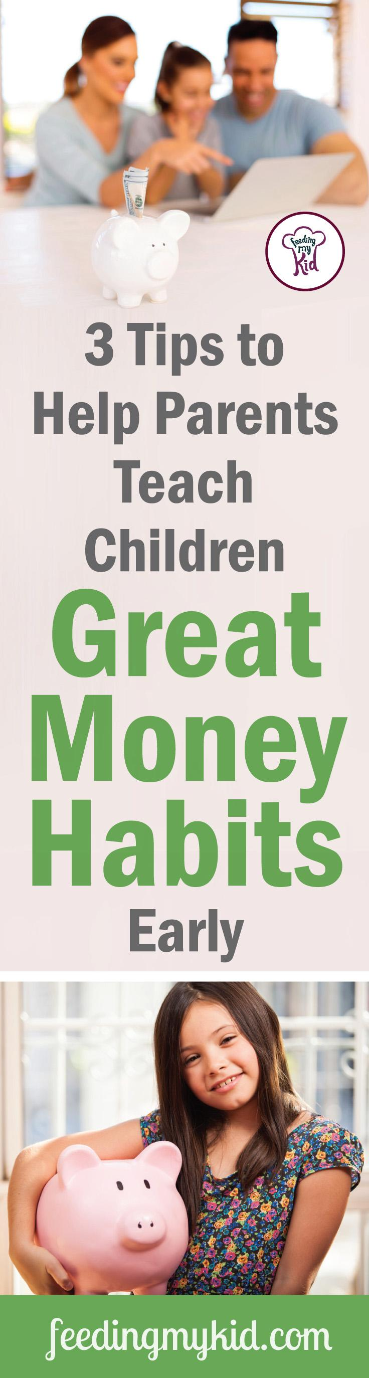 This is a must pin! Teaching kids about money doesn't have to be compliacted. Teaching financial literacy at a young age is easier than you think. Find out how here! Feeding My Kid is a website for parents, filled with all the information you need about how to raise your kids, from healthy tips to nutritious recipes. #money #parenting #teachingkidsmoney