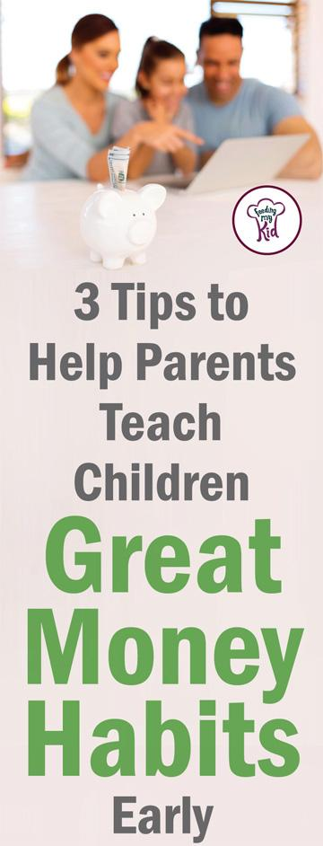 Teaching kids about money doesn't have to be complicated. Teaching financial literacy at a young age is easier than you think. Find out how here! Feeding My Kid is a website for parents, filled with all the information you need about how to raise your kids, from healthy tips to nutritious recipes. #money #parenting #teachingkidsmoney