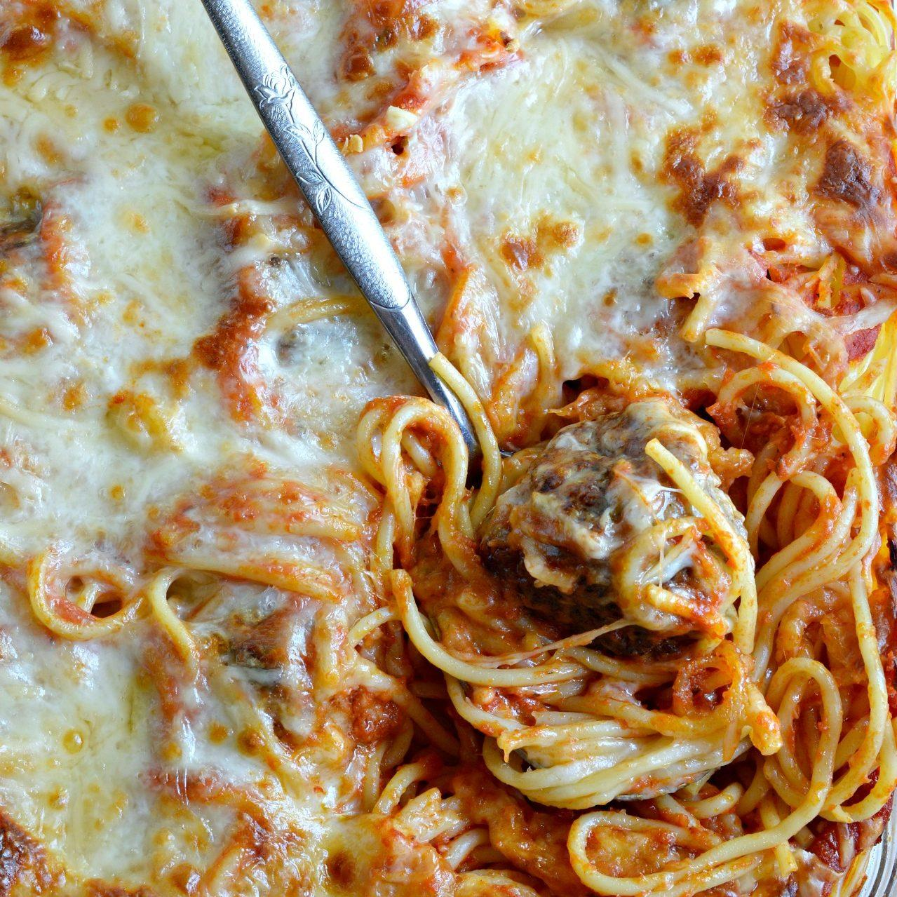 Baked Spaghetti and Meatballs Recipe