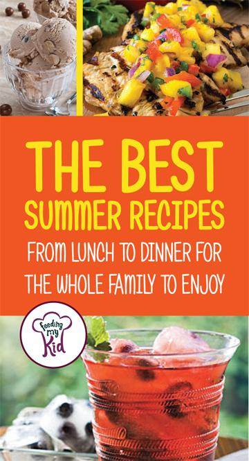 Here are the best summer recipes for lunch and dinner. Your whole family will love these! #recipes #lunch #summerrecipes #FeedingMyKid