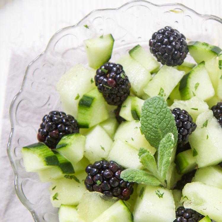Blackberry Cucumber Melon Toddler Finger Salad Recipe