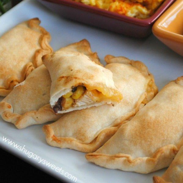 Easy Baked Empanadas with Cheesy Saffron Rice and Salsa Recipe