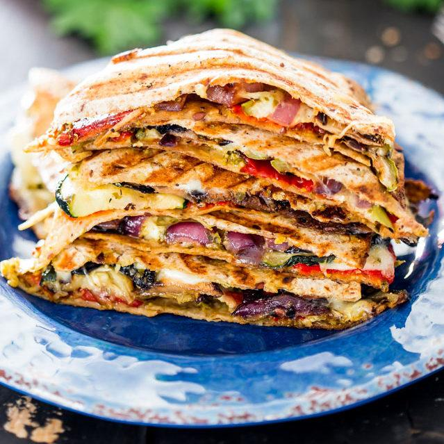 Grilled Vegetable Quesadillas Recipe