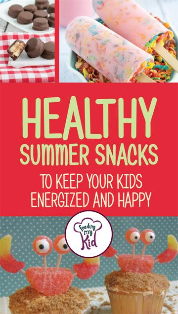 Summer is here! What summer snacks are you giving your kids to help them stay healthy and happy all summer long. Check these snacks out for some great ideas! These snacks are sure to please! #summersnacks #snacks #FeedingMyKid