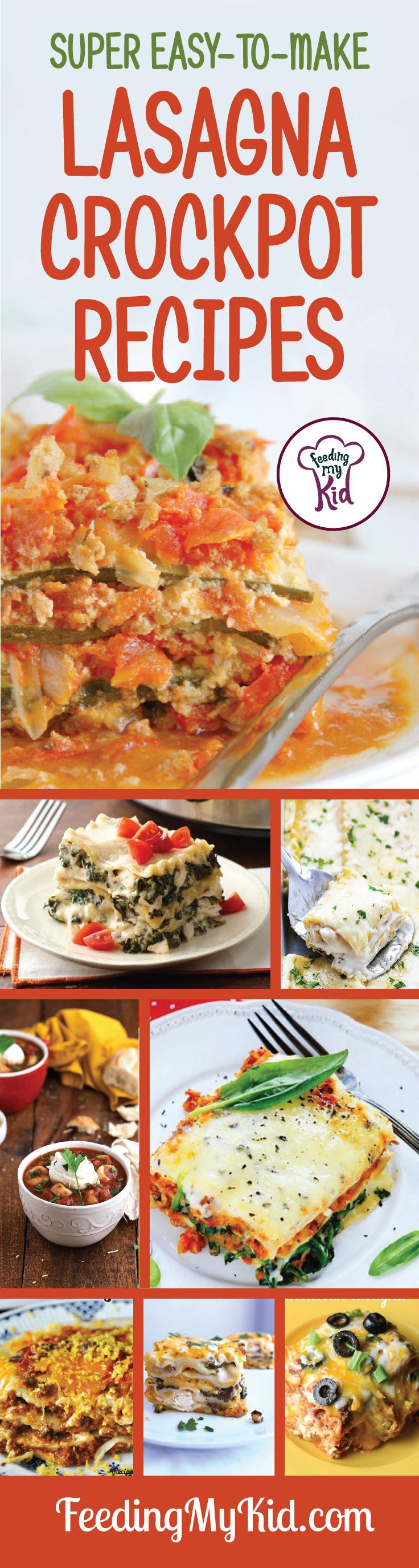 We put together this list of easy-to-make lasagna crockpot ideas just for you! These recipes are sure to please every lasagna lover out there! And the great thing is, these take very little time to prep! Take a look! Feeding My Kid is a filled with all the information you need about how to raise your kids, from healthy tips to nutritious recipes. #FeedingMyKid #lasagnaideas #recipes #crockpot