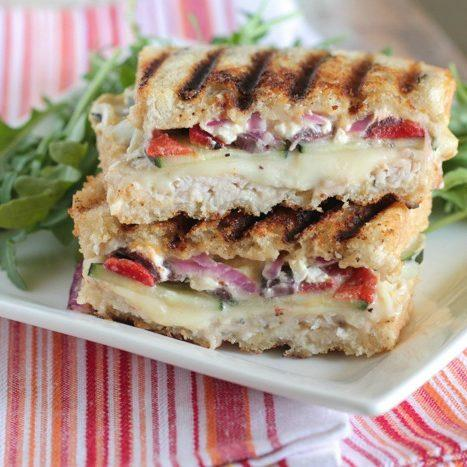 Loaded Turkey and Hummus Mediterranean Panini Recipe