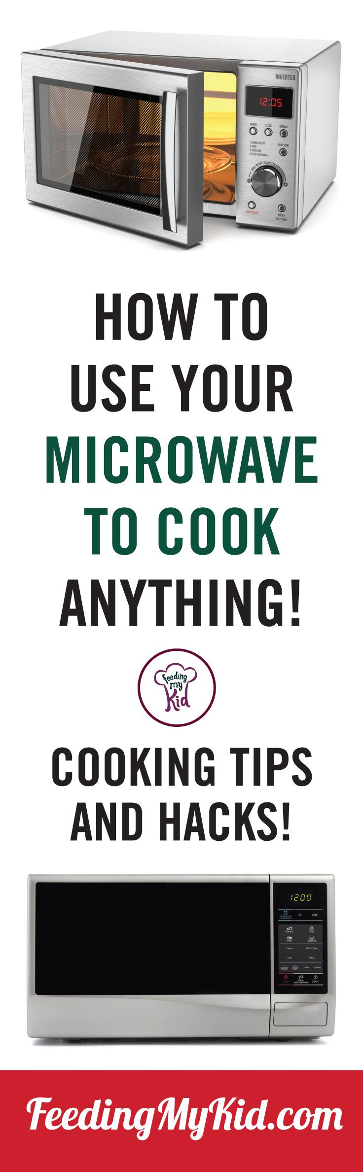 Check out these great videos on microwave cooking tips that will help you cook anything and everything in your microwave. Feeding My Kid is a filled with all the information you need about how to raise your kids, from healthy tips to nutritious recipes. #FeedingMyKid #microwave #microwavecooking #cookingtips