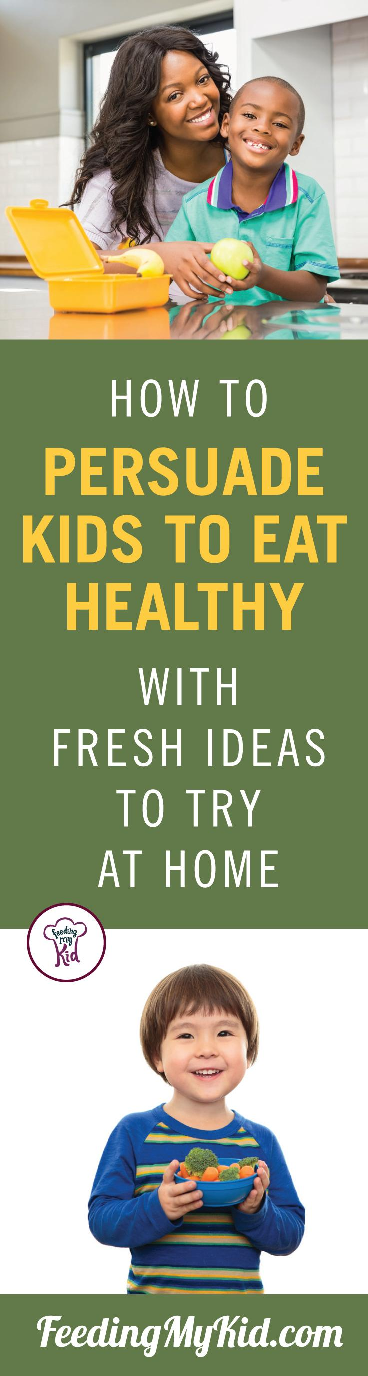 Learn how to develop healthy eating habits in kids and get them eating vegetables with the power of suggestion. Feeding My Kid is a filled with all the information you need about how to raise your kids, from healthy tips to nutritious recipes. #FeedingMyKid #pickyeating #healthyeatinghabits