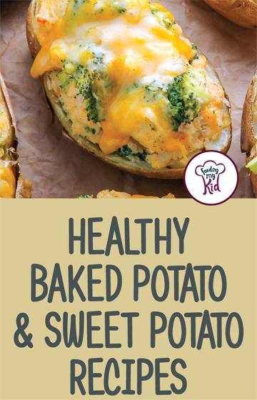 Try these great baked potato and sweet potato recipes that will make the perfect side dish for just about any and every meal! #FeedingMyKid #potatorecipes