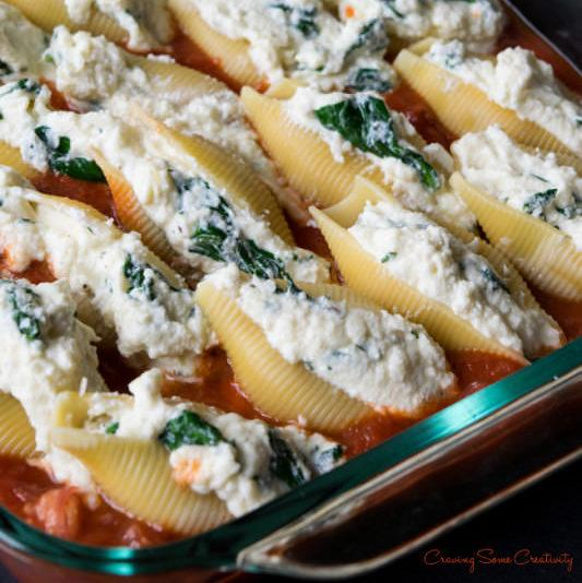 Sausage, Ricotta and Spinach Stuffed Shells Recipe