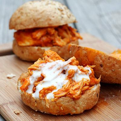 Shredded Buffalo Chicken Sandwiches Recipe