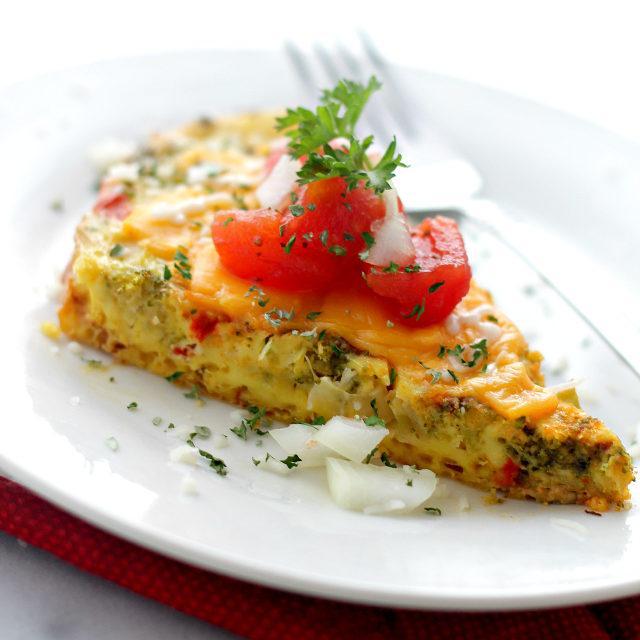 Slow Cooker Veggie Omelette Recipe