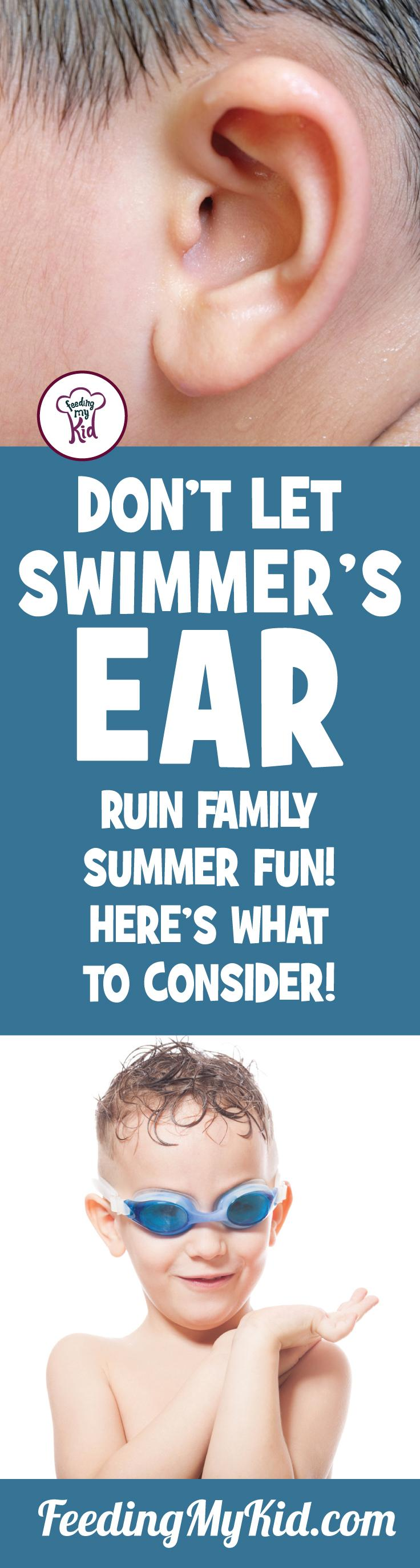 Here's something to be aware of this summer to make sure your child is as healthy as can be and that's swimmer's ear. Keep your kids healthy this summer!